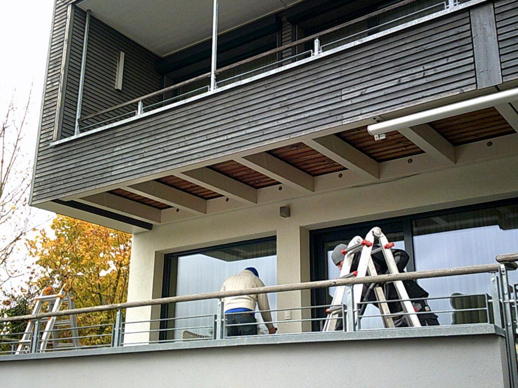 Impressionen | Montage einer Kassetten-Markise 550 in Aschaffenburg-Schweinheim