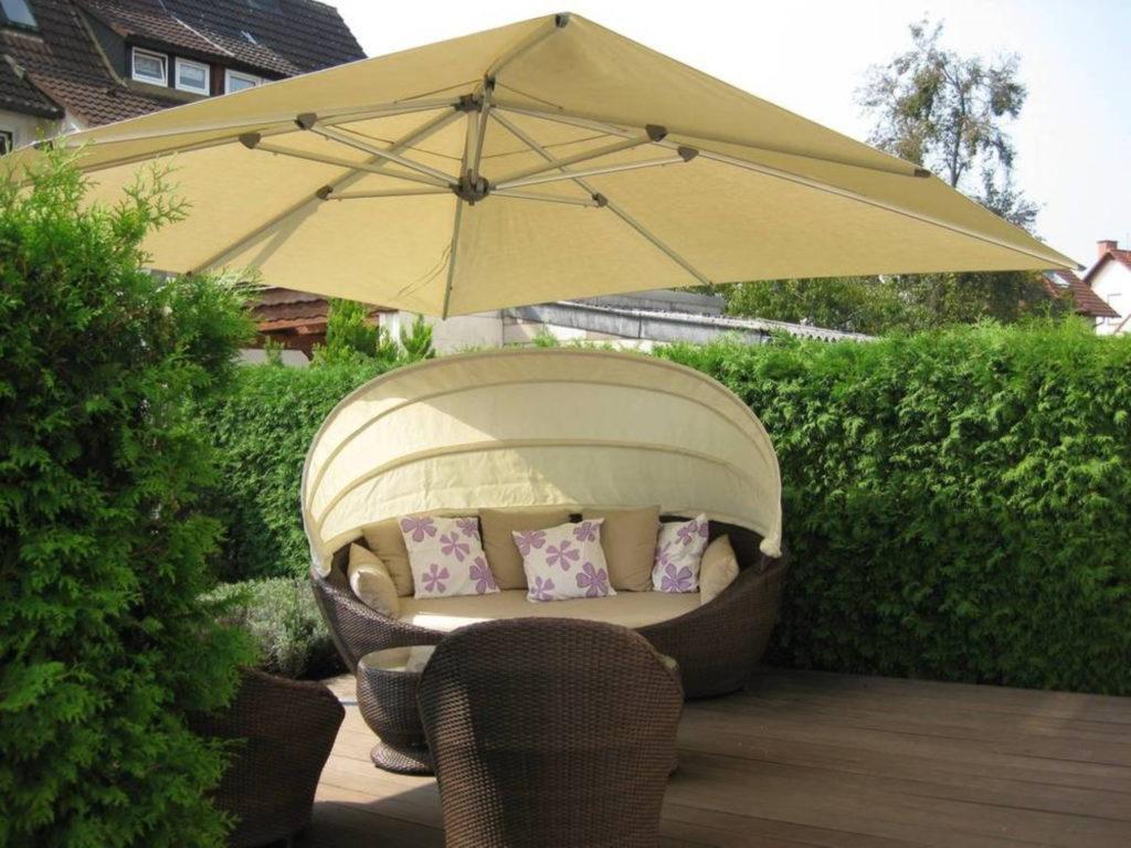 Sonnenschirme haus eigentum terasse | SAGA Raumausstattung Aschaffenburg | Gardinen, Bodenbelag, Sonnenschutz, Pergola, Rolladen, Insektenschutz und Wasserschaden