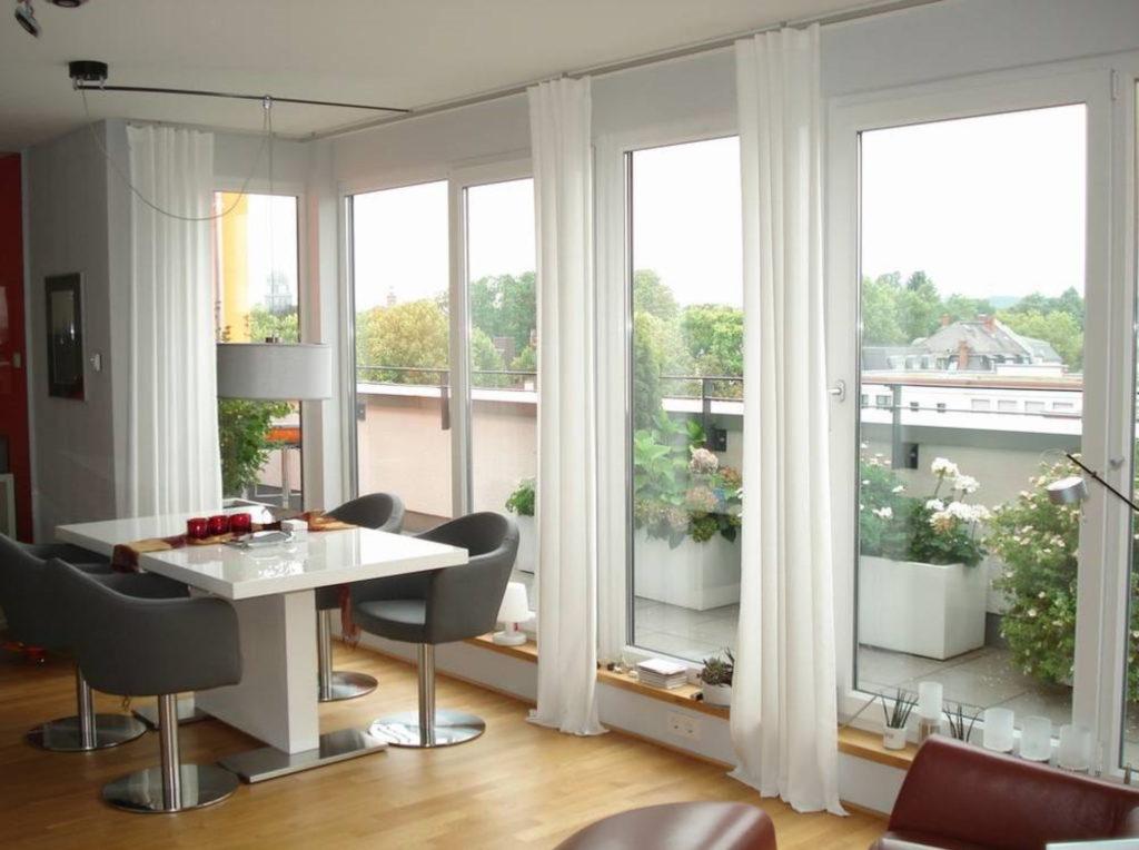 Gardine Wohnung | SAGA Raumausstattung Aschaffenburg | Gardinen, Bodenbelag, Sonnenschutz, Pergola, Rolladen, Insektenschutz und Wasserschaden