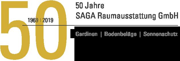 Logo / SAGA Raumausstattung ist Spezialist für Gardinen, Bodenbelag, Sonnenschutz, Markisen, Pergola, Rolladen, Insektenschutz und Wasserschaden in Aschaffenburg