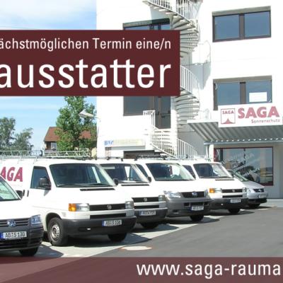 Stellenangebote   SAGA ist seit 50 Jahren Spezialist für Gardinen, Bodenbelag, Sonnenschutz, Sonnensegel, Markisen, Pergola, Rolladen, Insektenschutz, Wasserschaden, Renovierung und Raumausstattung in Aschaffenburg