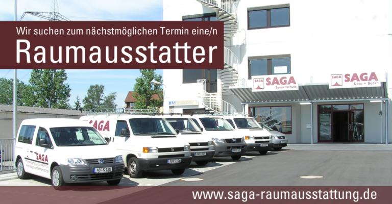 Stellenangebote | SAGA ist seit 50 Jahren Spezialist für Gardinen, Bodenbelag, Sonnenschutz, Sonnensegel, Markisen, Pergola, Rolladen, Insektenschutz, Wasserschaden, Renovierung und Raumausstattung in Aschaffenburg
