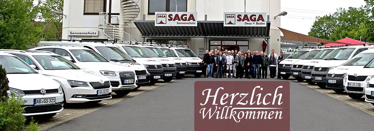 Herzlich Willkommen | SAGA ist seit 50 Jahren Spezialist für Gardinen, Bodenbelag, Sonnenschutz, Sonnensegel, Markisen, Pergola, Rolladen, Insektenschutz, Wasserschaden, Renovierung und Raumausstattung in Aschaffenburg